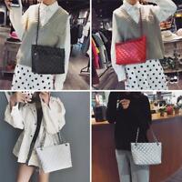 Women Leather Shoulder Bag Sling Chain Handbag Purse Messenger Crossbody Satchel