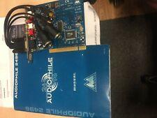 M-audio Audiophile 24/96 2496 Rev-A2 Audio Sound Card PCI + Cable AUDIO MIDI I/O