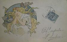 Carte postale origniale Alfons MUCHA début XX°s P1630