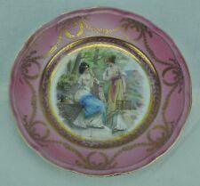 Richard Ginori antique plate with Royal scene. (BI#MK/0317.TMP)