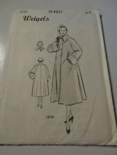 WEIGEL'S Vintage Sewing Pattern 1519 -(Bust 34)