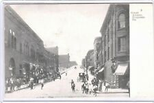 1907 POSTCARD GRANT AVENUE DUQUESNE PA /HORSE BUGGY CIGAR STORE PICTURED