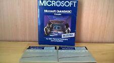 "Vintage Microsoft QuickBASIC Quick BASIC Compiler Version 2.01 IBM PC DOS 5.25"""