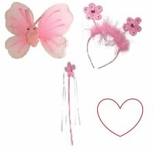 princess flower wand fairy wings bopper set fancy dress glitter ribbons sparkle