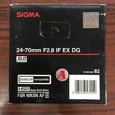 Sigma 24-70mm f/2.8 IF EX DG HSM for Nikon AF D