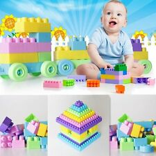 Kids Children Favor 90PCS Plastic Puzzle Building Blocks Educational Toy Bricks