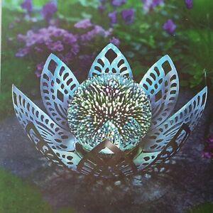 LED Lotusblume Leuchtkugel 3D Lichteffekt Stimmungsleuchte Timer Kugelleuchte
