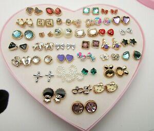 Pearl Rose Fashion Earrings 36 Studs Crystal Stars Gems Various Hypoallergenic