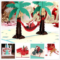 3D Pop Up Card Happy New Year Christmas Baby Holiday Invitations Greeting Cards