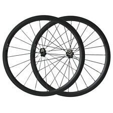 25mm width 38mm clincher carbon wheelset road bike U shape basalt brake surface