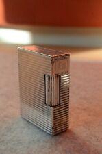 S.T. DUPONT Feuerzeug  Silber  Linie 1  mit Gravur  SB