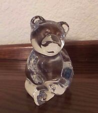 "3-1/2"" Clear Glass Sitting Bear Figurine"