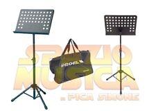 PROEL RSM360M LEGGIO MUSICALE FORATO PROFESSIONALE TEATRO ORCHESTRA CON BORSA