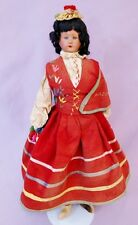 "21"" Foreign Costume Madeira Doll c1920 Portugal"