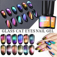 LILYCUTE Glitter Magnetic UV Gel Nail Polish Cateye Soak Off Nail Art Varnish