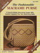 The Fashionable Macrame Purse Liz Miller Pattern Project Instruction Book NEW