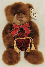 "Make a Wish GUND Plush Brown Teddy Bear Stuffed Animal Velvet Pouch 17"" 46118"