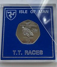 More details for isle of man manx 2009 tt 50p john mcguinness 50 years of honda racing. iom cased