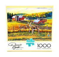 Buffalo Games Harvest Time 1000 PC Jigsaw Puzzle 11238 Deer Farm Darrell Bush