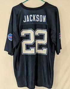 FRED JACKSON #22 Buffalo Bills Blue NFL Football Jersey Mens Size XL FREDDIE