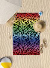 "58""x39"" Dark Leopard Print Microfibre Beach Towel Pool Sun Bathing Towel Only"