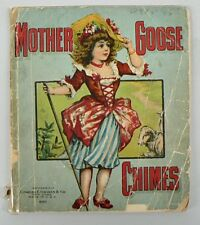 "VINTAGE ANTIQUE CHILDRENS BOOK "" MOTHER GOOSE CHIMES """