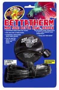 ZooMed Betta Therm Mini Size Bowl Heater 7.5 WATT for 3,5-11L