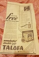 Telofa One Minute Facial 1933 Advertisement