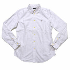Ralph Lauren Shirt Women Button Down Oxford New Custom Fit Long Sleeve