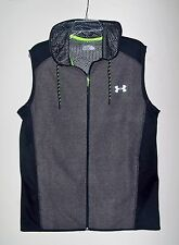 Men's Under Armour COLDGEAR SURVIVAL INFRARED FLEECE Full Zip Gray Vest M NWT$70