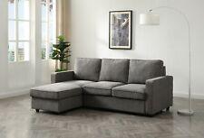 BRAND NEW Grey Fabric Corner Sofa with Storage and Sofa Bed