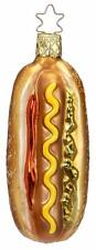 Inge-Glas 68624 Hot Dog Ketchup Mustard Relish Hand Blown Christmas Ornament