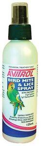 AVITROL Bird Mite & Lice 125ml spray - FREE REGISTERED POSTAGE