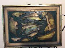 Oil Painting on wood w/glass by Milton Goldstein - 1986- Artist note on  back