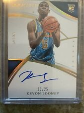 2015 immaculate collegiate Kevon Looney Rookie On Card Auto #3/25