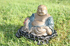 Antique Chinese Wooden Carved Lacquer Buddha Figure Statue with Stand - Marks