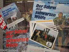 DER SCHREI DER SCHWARZEN WÖLFE 16FOTOS 4 PLAKATE Cry of the Black Wolves