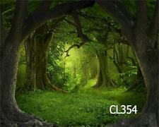 10X8FT Fairy Tale Jungle Forest Thin Vinyl Photography Backdrop Background CL354