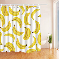 Tropical Fruit Banana Pattern Bathroom Shower Curtain Fabric 71*71inch