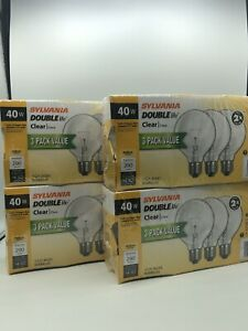 Sylvania Double Life Light Bulb 40W 120V 40G25/DL/RP Pack of 9 Bulbs #F2
