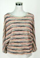 Anthropologie 9-His Stcl Top S Batwing Dolman Stripe Sweater Woven Knit Small