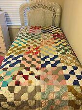"""Vintage Multi-Color Patchwork Quilt 55"""" X 78"""""""