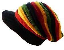 Rastamütze Rasta Mütze Rastafari Jamaika Farben Bunt Weit Dehnbar Cap Reggae