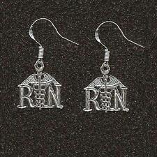 Sterling Silver RN (REGISTERED NURSE) Dangle Earrings, Made in USA