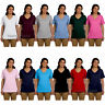 Hanes Womens Tagless V Neck T Shirt Vneck Cotton Tee S-3XL 5780