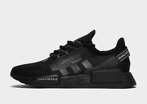 2021 Authentic Adidas Originals NMD_R1 V2 ®( Men Sizes: UK 8 - 12 ) Triple Black