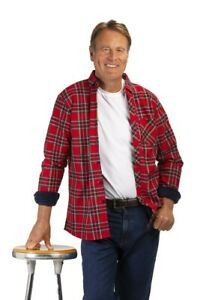 Velour Lined Warm Check Winter Overshirt in Green, Red or Blue
