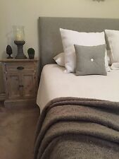 FUN BEDHEADS Single Size Taupe Upholstered Bedhead  RRP $595.00