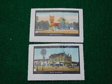 1920s German Komarom Travel Poster Stamps Lot of 2 In Nice Condition -PS10