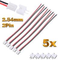 5 Set (10 Stück) 2Pin Mini JST XH 2.5mm 2.5 Stecker 15cm Kabel + Buchse JST-XH